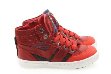 ShoesMe URBAN Lace-up High Tops (Red)